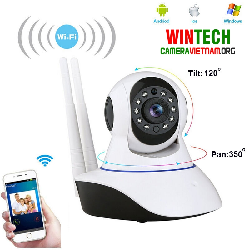 camera ip wifi wintech ip qc10 do phan giai 2 0mp
